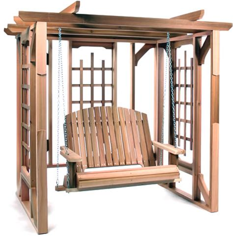 Wooden Patio Swing Kit Pergola Swing Kit By All Things Cedar Garden Furniture