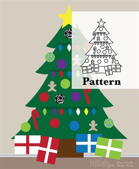 pattern for large felt christmas tree diy pattern for christmas felt tree kids wall activity
