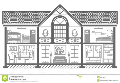house interior vector house interior silhouette vector illustration stock vector image 40512747