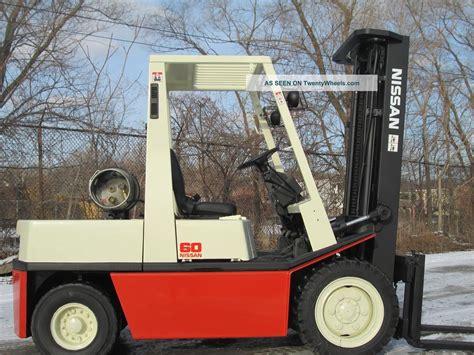 nissan 60 forklift lift truck hilo fork caterpillar yale