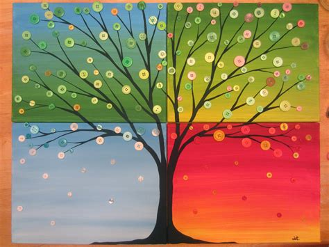 Painting 4 Seasons by Tansy Dolls Time With Dot Of Busted Button