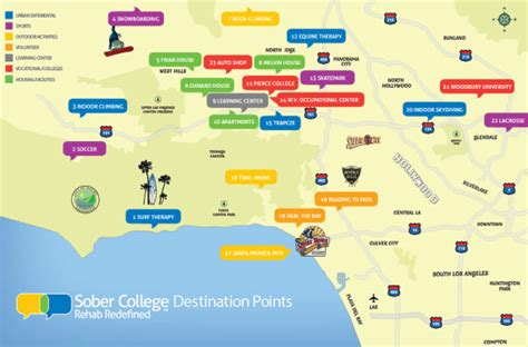 map of southern california colleges and universities colleges in southern california map california map
