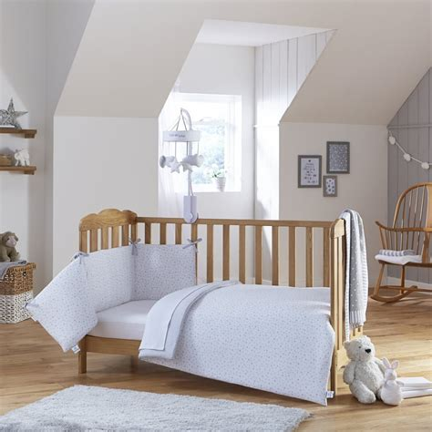 Cot Bed Bumper Sets Uk Clair De Lune Stripes 2 Cot Cotbed Quilt And Bumper Set Bedding From Pramcentre Uk