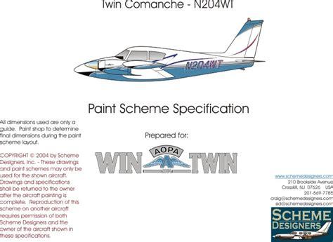 scheme design twin comanche