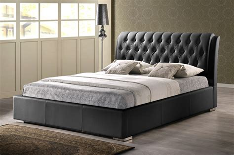 baxton studio bianca white modern bed with tufted headboard bianca black modern bed with tufted headboard full size
