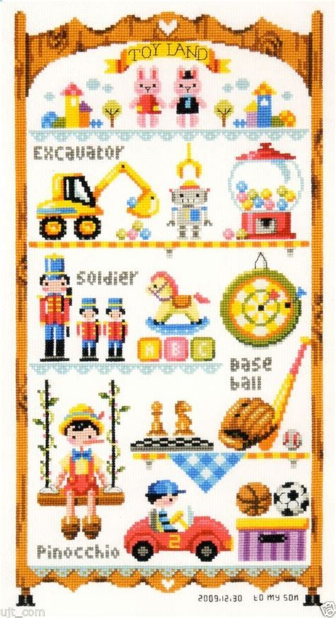 pattern leaflet quot toy land to my son quot counted cross stitch pattern leaflet