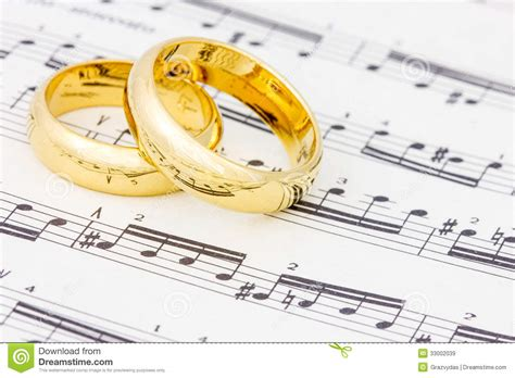 golden rings on the sheet royalty free stock images