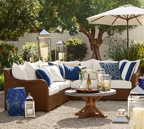 pottery barn outdoor sectional 2017 pottery barn outdoor furniture sale up to 50