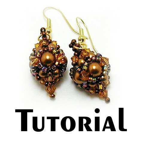 beaded earrings tutorial tutorial beaded bead earring mikki ferrugiaro designs
