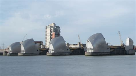 fast boat down thames time lapse of london s thames barrier with boats and ships