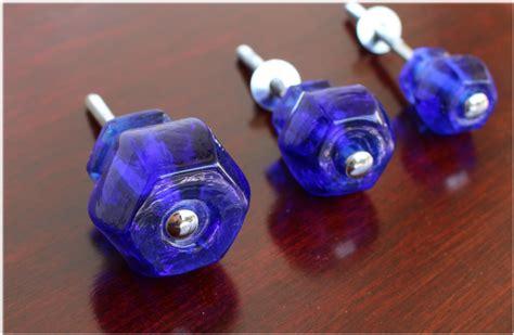 cobalt blue cabinet pulls 1 5 quot cobalt blue glass cabinet knobs pulls vintage dresser