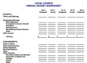 church budget template 10 church budget process forms free excel pdf word doc