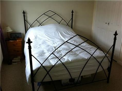 Black Wrought Iron Bed Frames Black Wrought Iron Bed Frame Kingsize Ebay