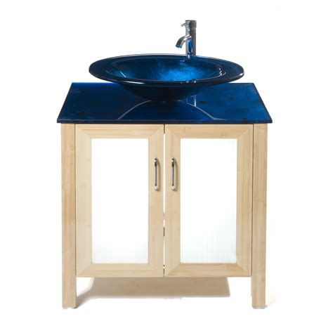 Lowes Bathroom Vanity Tops Shop Bionic Waterhouse 31 In X 22 In Light Bamboo Single Sink Bathroom Vanity With Tempered