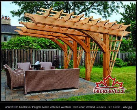 gazebo 2x2 churchville cantilever pergola made with 8x8 western