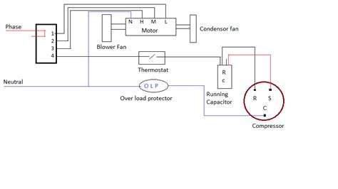 window ac wiring diagram