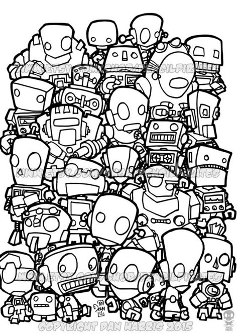 robot coloring pages pdf colouring pages robots and book pages on pinterest