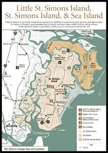 st simons island map simons island map images