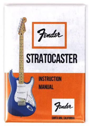 vintage fender stratocaster guitar instruction manual
