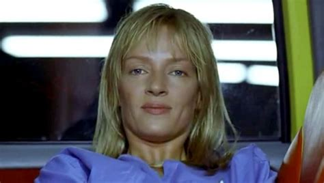 uma thurmans hair in kill bill photo of uma thurman who portrays quot the bride quot from quot kill