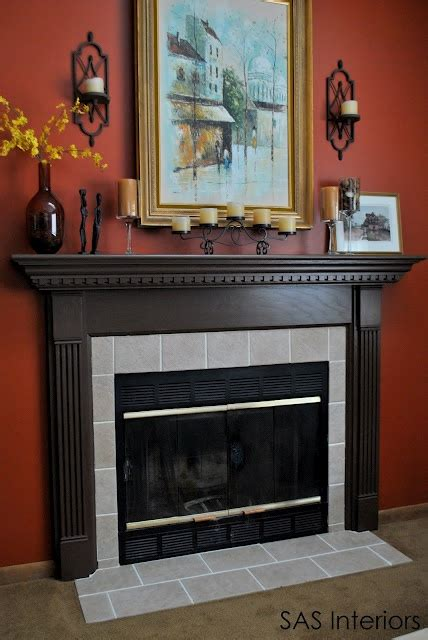 Re Tiling A Fireplace Surround by Brown And Tile Surround Fireplace Makeover Ideas