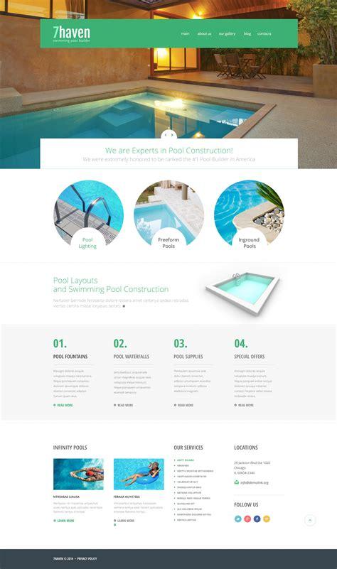 Swimming Pool Builder Joomla Template 48436 Swimming Pool Website Templates Free