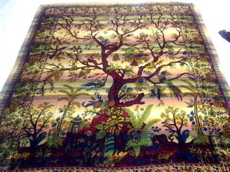 tree of life bedspread krishna mart india