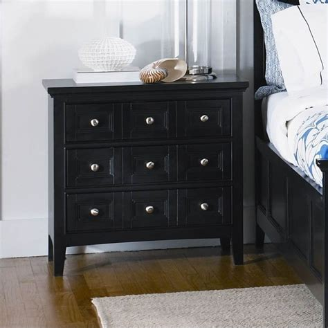 3 Drawer Black Nightstand by Magnussen Southton 3 Drawer Nightstand In Black Finish