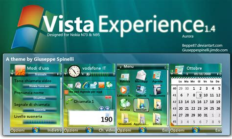 nokia vista themes vista experience n73 by beppe87 on deviantart