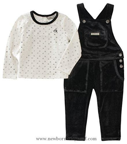 Overall Black Set baby clothes calvin klein baby overall set