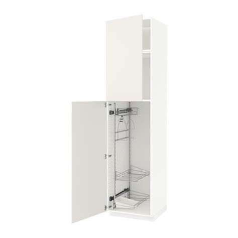 Kitchen Cabinets By Ikea Metod Hochschrank Mit Putzschrankeinr Wei 223 Veddinge
