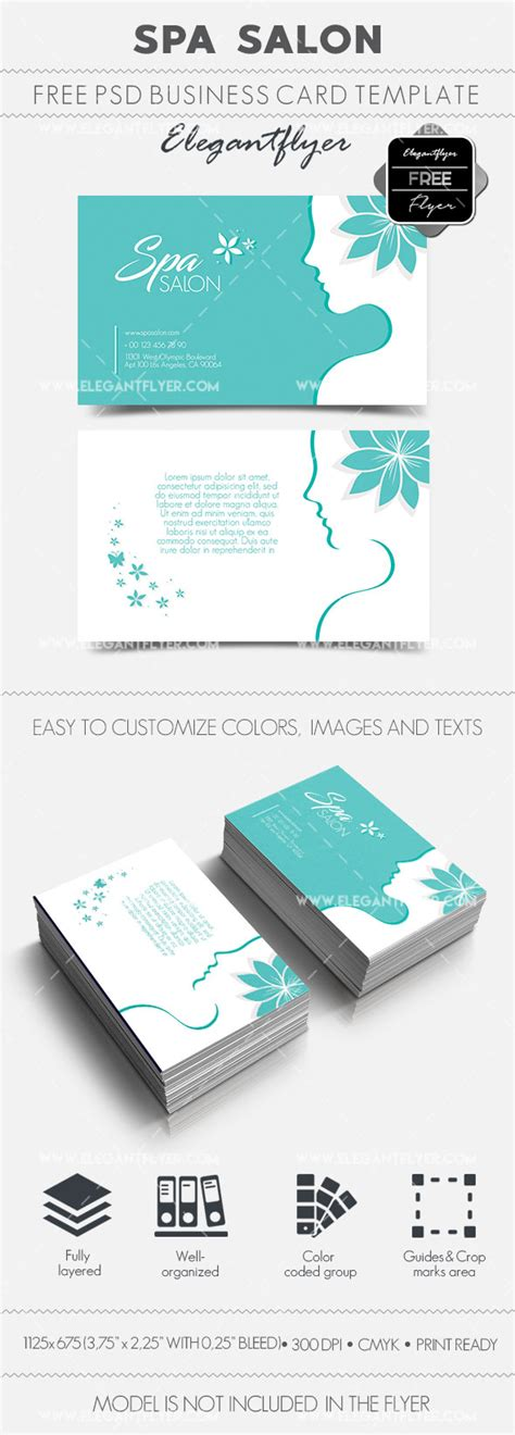 Salon Business Card Templates Psd by Spa Salon Free Business Card Templates Psd By Elegantflyer