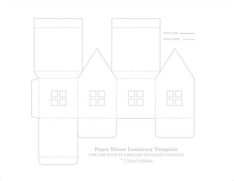 paper house template 9 download free documents in pdf psd