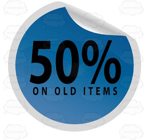 Sle Tags For Giveaways - 50 percent on old items clearance web store round blue sale price tag with curled edge
