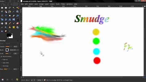 smudge tutorial gimp smudge tool gimp beginners guide ep102 youtube