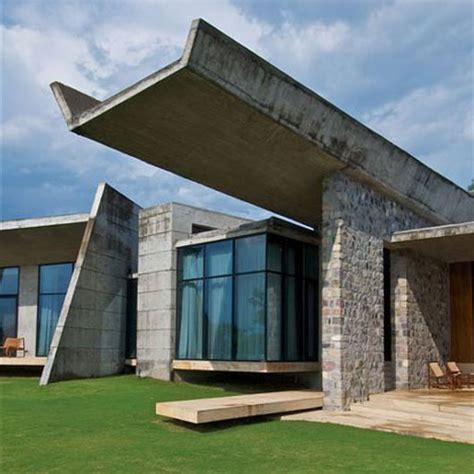 concrete house designs unique trapezoid concrete house design 01 plushemisphere