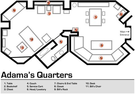 Battlestar Galactica Floor Plan | adama s quarters floorplan by bsg75 deviantart com on