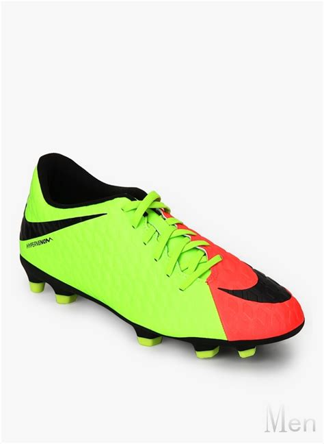 footballer shoes great nike hypervenom phade iii fg green football shoes