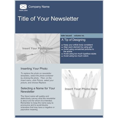 Company Newsletter Template Buy Newsletter Templates