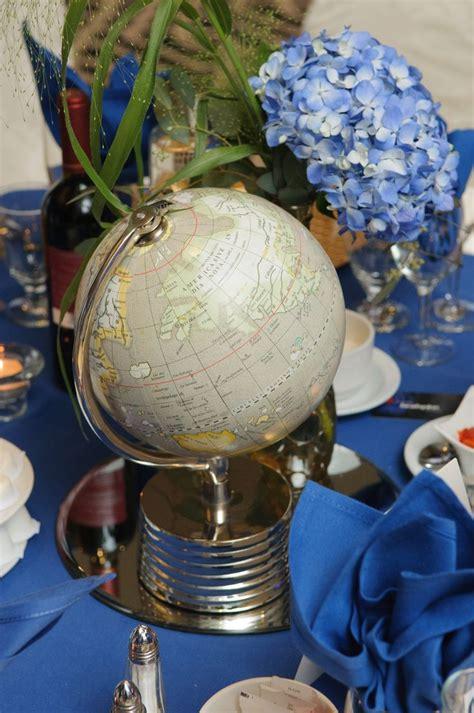 globe centerpieces globe centerpiece blue hydrangeas andrew s baptism globes hydrangeas and blue
