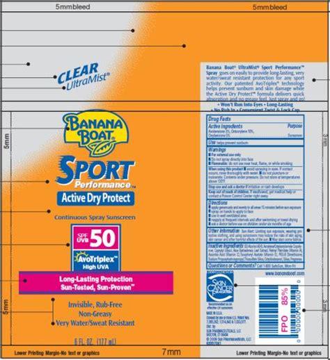 banana boat recall banana boat sport spf 50 information side effects