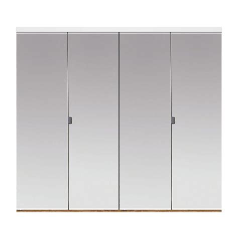 Bifold Closet Doors With Mirrors Impact Plus 60 In X 80 In Beveled Edge Mirror Solid Mdf Interior Closet Bi Fold Door With