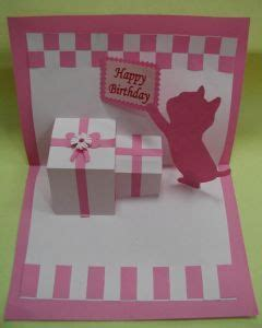 how to make a simple birthday card make a pink pop up birthday card scrapbooking