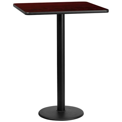 30 Inch Square Kitchen Table 30 Inch Square Mahogany Laminate Table Top W 18 Inch Bar H Base Kitchen Dining Bars