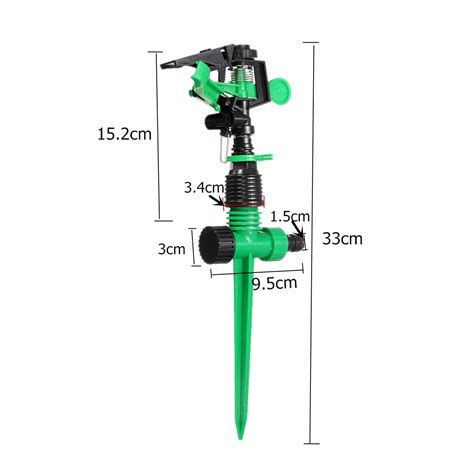 Stick Dripper Putar 360 3 4 quot irrigation sprinklers 1 set 360 degrees plastic bracket connector stick spike agriculture