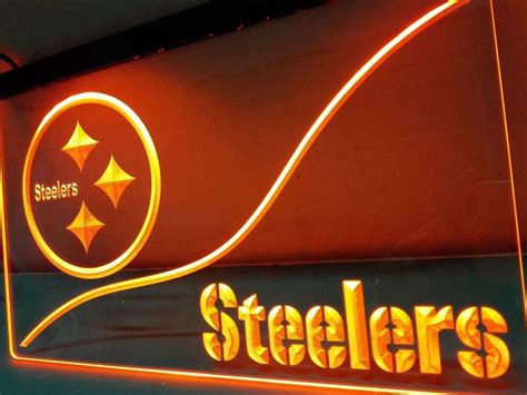 neon light wall art pittsburgh steelers neon sign football led light sign wall
