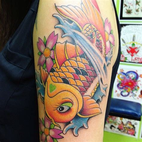 koi fish tattoo for girl 48 best colourful tattoos images on pinterest cool