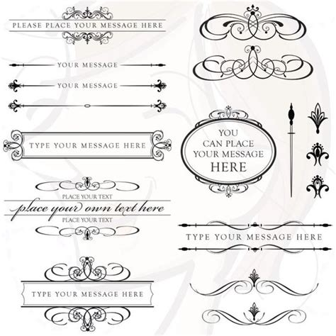 Clipart Wedding Embellishments by Wedding Clipart Calligraphy Vector Frame Bridal Save The
