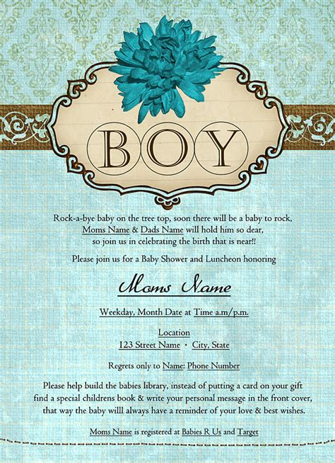 Exles Of Baby Shower Invitations by Creative Barn Baby Shower Invitation Sles