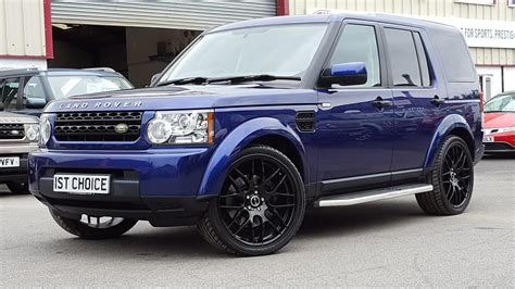 dark blue range rover used 2010 land rover discovery 4 tdv6 gs bali blue black
